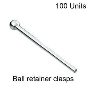 Dentaurum Dental Orthodontic Ball Retainer Clasps For Tooth Hold Position 100pcs