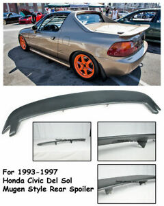 Mugen Style Rear Trunk Spoiler Wing Kit Honda Del Sol 1993 1997 Eg2 Lip