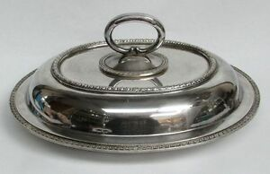 Vintage Japanese 950 Sterling Silver Covered Entree Dish 47 4 Ozs