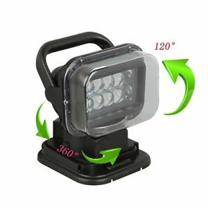 50w Cree Led Search Light With Remote And Magnetic Base 360 Degree Spot Lamp