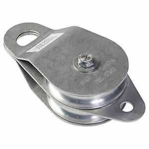 Pca 1273 Double Swing Side Pulley With Stainless Steel Plates 4 Diameter