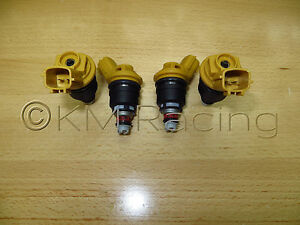 4x New Nismo Nissan Sr20det Yellow Side Feed 555cc Fuel Injectors 16600 Rr543