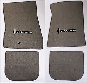 New Grey Floor Mats 1998 2010 Lincoln Town Car Embroidered Star Logo Set Of 4