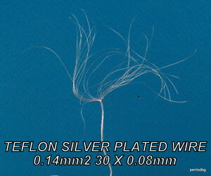 100m 0 14mm2 26awg Silver Plated High Purity Copper Teflon Wire For Audio