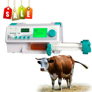 Meidical Veterinary Vet Injection Infusion Syringe Pump W Alarm Kvo drug Library