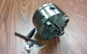 6 4 jaw Self centering Lathe Chuck W Top bottom Jaws W 2 1 4 8 Adapter new