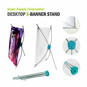 10 x15 Desktop Tabletop Countertop X Banner Stand For Trade Show Store Display
