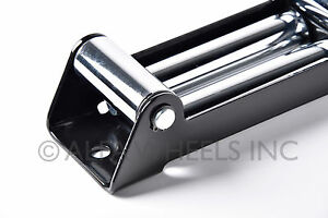 Universal 10 Roller Fairlead 12k Winch Steel Mount Guide Cable Wire Lead Guide