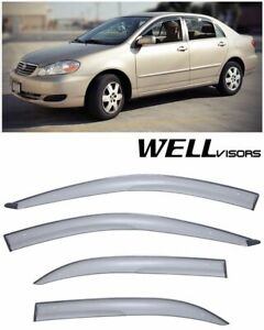 Well Visors Aerodyn Series Side Window Visors Deflector For 03 08 Toyota Corolla