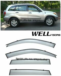Wellvisors Side Window Visors Deflector Premium Series For 01 05 Toyota Rav4