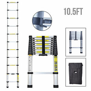 10 5 Ft Multi purpose Aluminium Ladder Telescopic Extension Foldable Steps En131