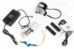 350 W 24 V Electric Motor Kit W Speed Control Thumb Throttle Charger Key Lock