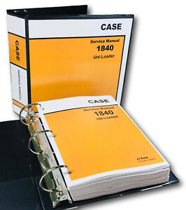 Case 1840 Uni loader Skid Steer Service Repair Manual Technical Shop Book Binder