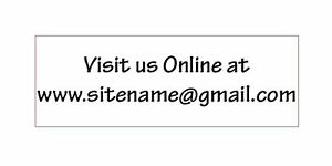 Custom Visit Us Online At Any Text Self Inking Rubber Stamp 2 Line Traxx 9012