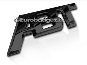 1 Brand New Abt 3d Adhesive Rear Badge Emblem Fits Audi Vw Gloss Black Abt