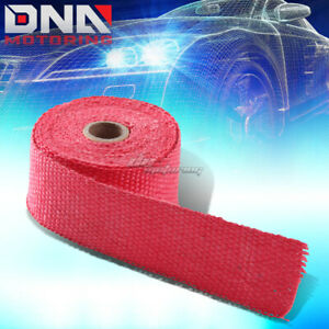 15ft 180 L 2 W Header Manifold Turbo Exhaust Pipe Insulating Red Heat Wrap