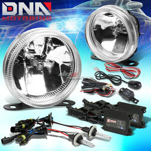 Clear Lens Universal Bumper Driving Fog Light Wiring Switch 3000k Slim Hid