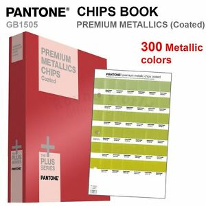 Pantone Color Plus Series Gb1505 Premium Metallic Chips Book coated 300 Colors