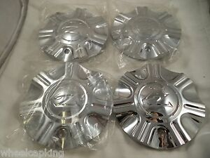 Zinik Wheels Chrome Custom Wheel Center Caps set Of 4 W Bolts