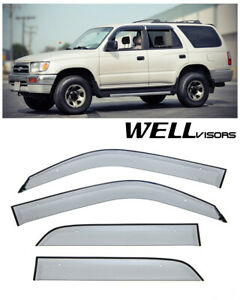 For 96 02 Toyota 4runner Wellvisors Side Window Visors Premium Series