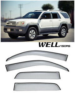 For 03 09 Toyota 4runner Wellvisors Side Window Visors Premium Series