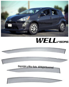 For 12 16 Prius C Wellvisors Side Window Visors Premium Series Rain Guard