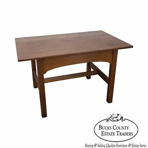 L Jg Stickley Antique Mission Oak Library Table