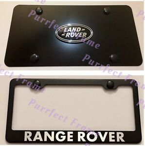Land Rover Range Rover Stainless Black Front License Plate Frame Rust Free