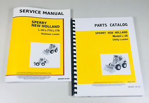 Set New Holland L 35 Skid Steer Loader Service Parts Manuals Shop Repair Catalog
