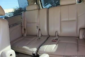 2007 07 Chevy Suburban Lt 3rd Row Folding Seat Bench Assembly Tan Leather