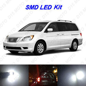 15 X 2005 2010 Honda Odyssey Ultra White Smd Led Interior Bulbs Reverse Lights