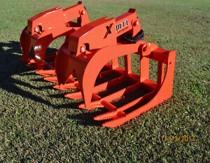 2018 Mtl X series 72 Root Grapple Bucket Skid Steer Bobcat kubota free Ship