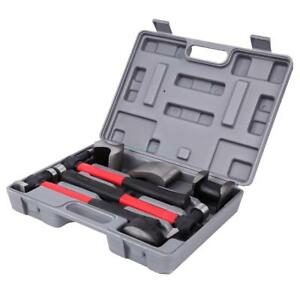 7pc Car Auto Body Repair Panel Beating Kit Hammer Dolly Dent Tool Set