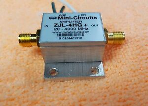 Mini Circuits Zjl 4hg Rf Amplifier 20 4000 Mhz 17 Db 12v Sma Connector Bw459