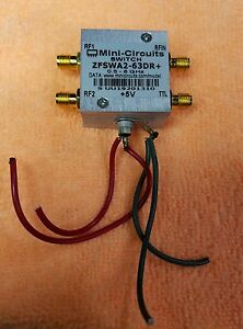 Mini Circuits Rf Switch Zfswa2 63dr 0 5 6ghz 500 6000 Mhz 3v 5v Sma Connector