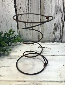 Three Vintage Individual Bed Springs Rusty Hourglass Primitive Country Antique