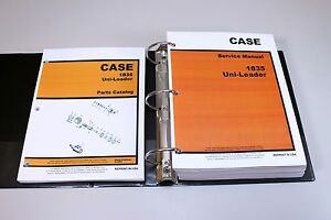 Set Case 1835 Uni loader Skid Steer Service Parts Catalog Manual Shop In Binder
