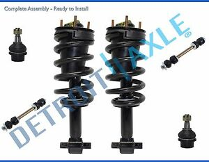 07 14 Chevy Suburban 1500 Front Strut Lower Ball Joint Sway Bar End Link Kit