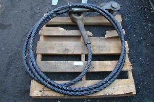 Schramm Drilling Rig Crosby Cable Asy 1 75 X 434 Lg Clevis Both Ends