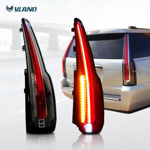 Set Of 2 Led Tail Lights Rear Lamp Brake Escalade Style For 15 18 Gmc Yukon