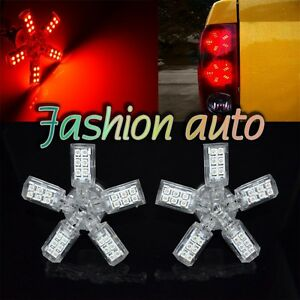 2x 40 Smd 3157 3528 Red Led Spider 5 Arm Turn Tail Brake Stop Light Bulbs Ap