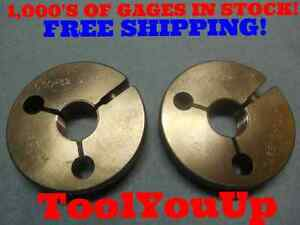 650 32 Uns 3a Thread Ring Gages Go No Go P d s 6297 6270 Tool Inspection