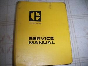 Caterpillar 637 Tractor Scraper Service Manual New