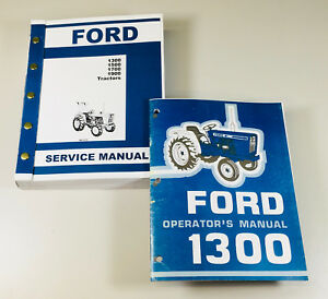 Set Ford 1300 Tractor Service Operator Manuals Technical Repair Maintenance Shop