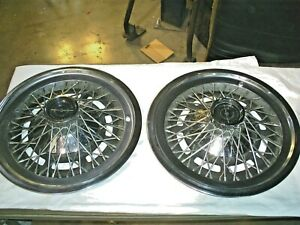 1978 Ford Thunderbird 2 Ea 15 Wire Wheel Cover Hub Caps Used Oem