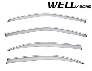 For 2000 2003 Nissan Maxima Sedan Wellvisors Side Window Visors Chrome Trim