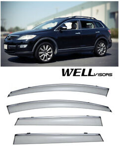 For 07 15 Mazda Cx 9 Wellvisors Side Window Deflector Visors With Chrome Trim