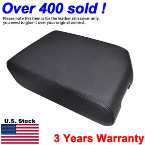 Leather Armrest Center Console Lid Cover Fits Toyota Tundra 2007 2013 Black
