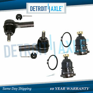 Brand New Set 4 Front Outer Tie Rod End Ball Joint Links For Nissan Frontier