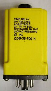 Tyco Potter Brumfield Cdb 38 70014 1 10 Second Time Delay Relay Timer